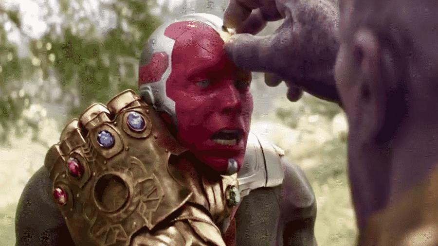 """Thanos mata Visão em cena de """"Vingadores: Guerra Infinita"""" - Reprodução"""