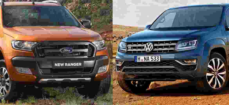 Ranger dará base para uma nova picape da Volkswagen. Será a nova geração da Amarok? - Arte UOL Carros sobre Divulgação