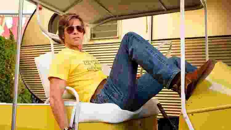 """Brad Pitt em """"Era Uma Vez em Hollywood"""" - Divulgação/VF"""