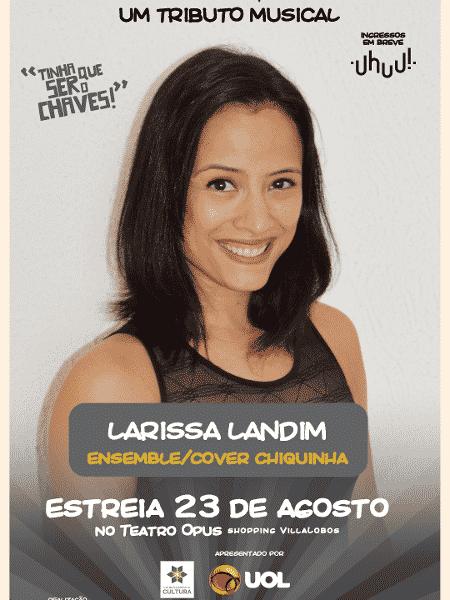 """Larissa Landim fará coro e será substituta de Chiquinha: em """"Chaves - Um Tributo Musical"""" - Divulgação - Divulgação"""