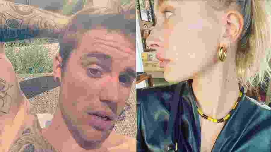 Justin Bieber publicou foto de Hailey Baldwin com o colar que deu para ela de presente - Reprodução/Instagram