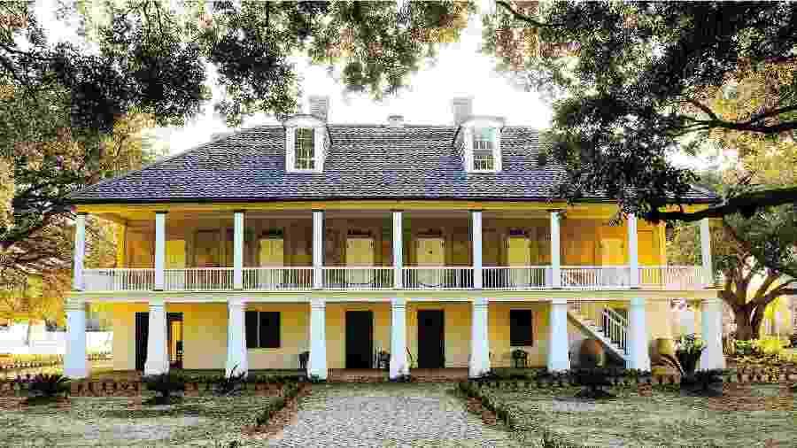 Antiga casa-grande da fazenda do museu Whitney Plantation, com 14 quartos, em Louisiana (EUA) - Divulgação