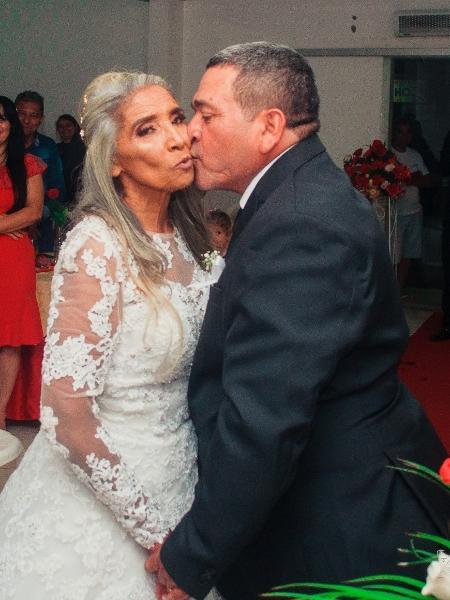 Helena e o marido logo após a cerimônia - Arquivo Pessoal