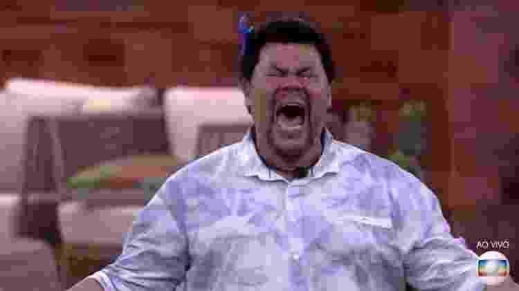 Babu comemora muito por sobreviver a mais um paredão do BBB 20 - Reprodução/TV Globo - Reprodução/TV Globo