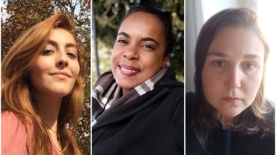 Bruna, Nayara e Julia: elas estão presas em diferentes regiões da Itália e pedem auxílio do governo para retornar ao Brasil - Acervo pessoal
