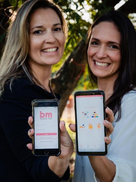 Tais Saraiva e Mariana Bertiz, empreendedoras e criadoras do aplicativo Benditas Mães - Divulgação