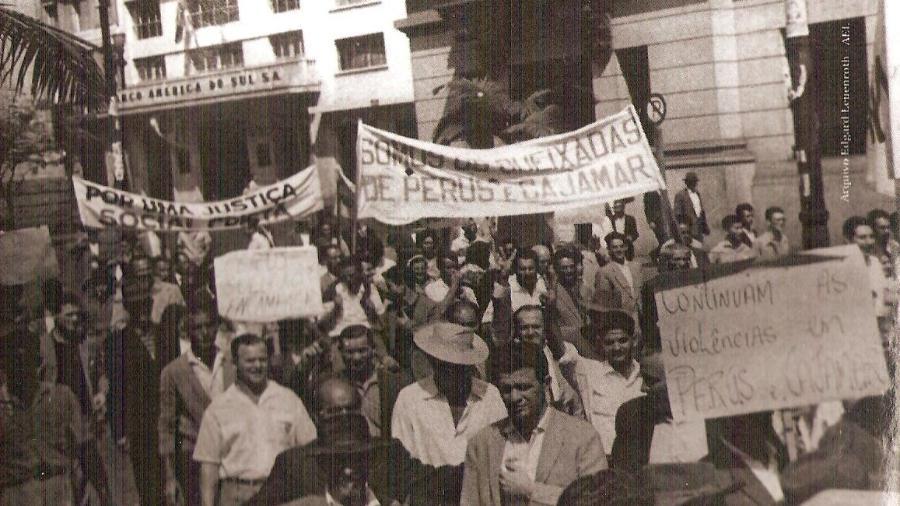 Greve dos Queixadas, trabalhadores da indústria de cimento Portland - Casa da Memória/Prefeitura do Município de Cajamar