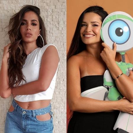 """Anitta e Juliette, do """"BBB 21"""" - Reprodução/Instagram/TV Globo"""