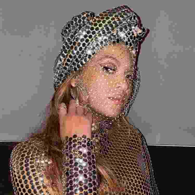 Beyoncé com brincos de diamante Lorraine Schwartz - Reprodução/Instagram - Reprodução/Instagram