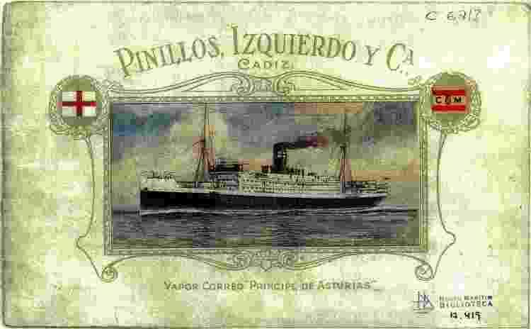 Desenho do Príncipe de Astúrias, que naufragou perto de Ilhabela - Blog do historiador Jeannis Platon - Blog do historiador Jeannis Platon