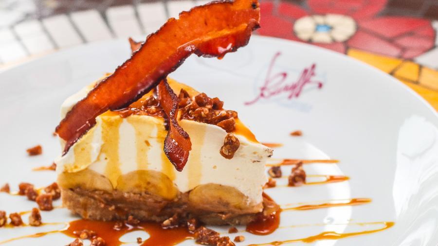 Banoffi com amendoim e bacon, uma das sobremesas inusitadas com um toque da carne de porco - Fernando Smak