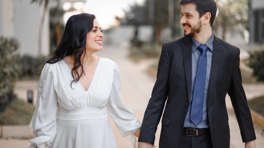 Paloma e Eduardo decidiram casar no civil e foram morar juntos antes da festa de casamento - Nilson Versatti