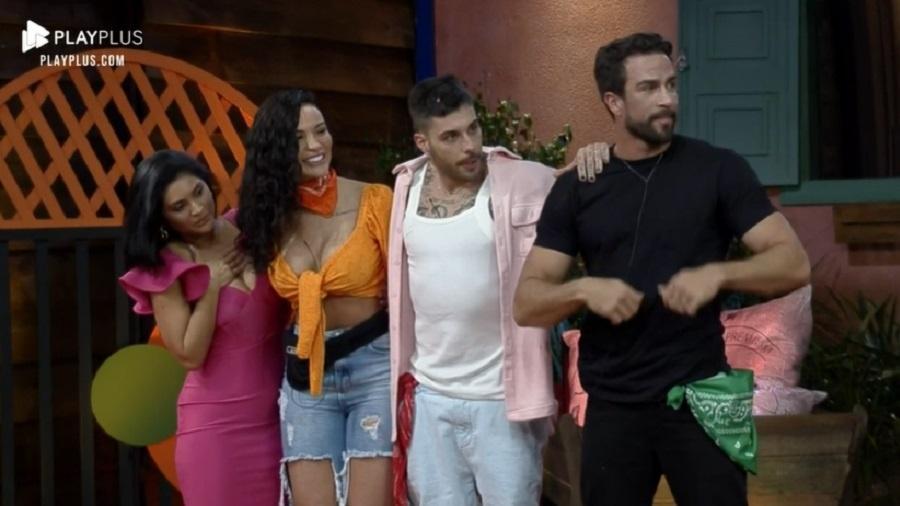 A Fazenda 2021: Mileide, Aline, Gui Araújo e Erasmo vão disputar prova - Reprodução/Playplus