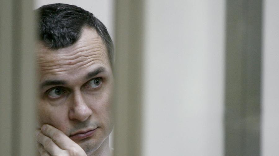 O cineasta ucraniano Oleg Sentsov, preso em Rostov acusado de terrorismo - Sergei Venyavsky/AFP Photo