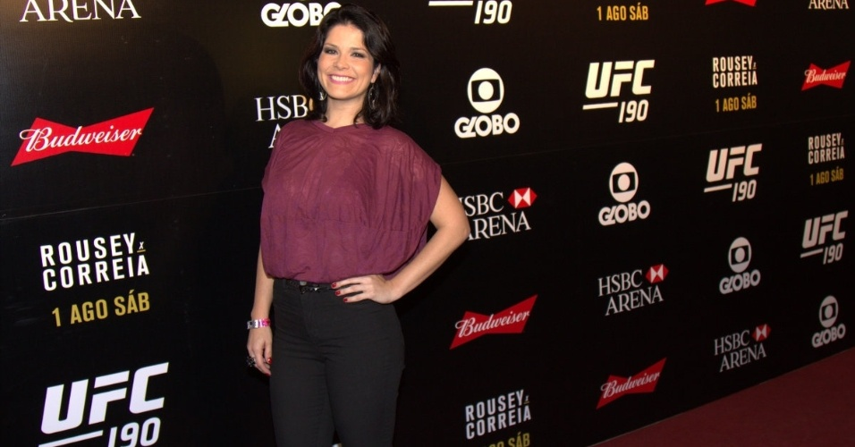 1.ago.2015- Samara Felippo marca presença na HSBC Arena paraas lutas do UFC 190, que tem como Card principal a disputa do título mundial entre a americana Ronda Rousey e a brasileira Bethe Correia