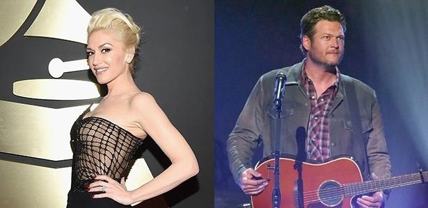 Gwen Stefani e Blake Shelton assumiram o namoro em novembro de 2015 - Montagem UOL/Getty Images