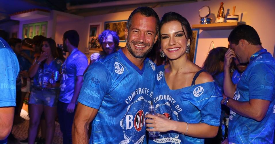 13.fev.2016 - Malvino Salvador e Kyra Gracie
