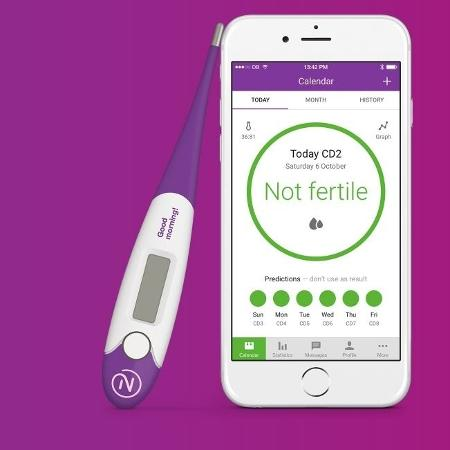 O aplicativo consegue monitorar as taxas de fertilidade graças a temperatura - Reprodução