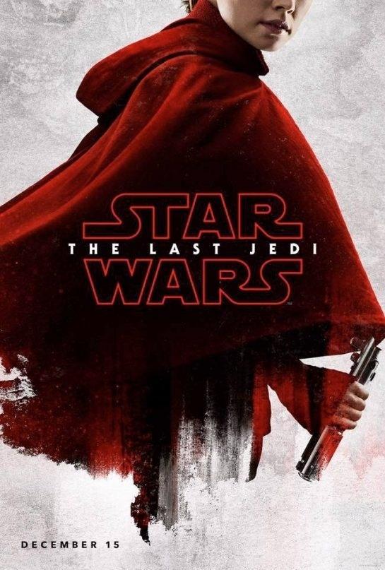 """De vermelho, principais personagens de """"Star Wars - Os Últimos Jedi"""" são retratados nos cartazes do filme"""