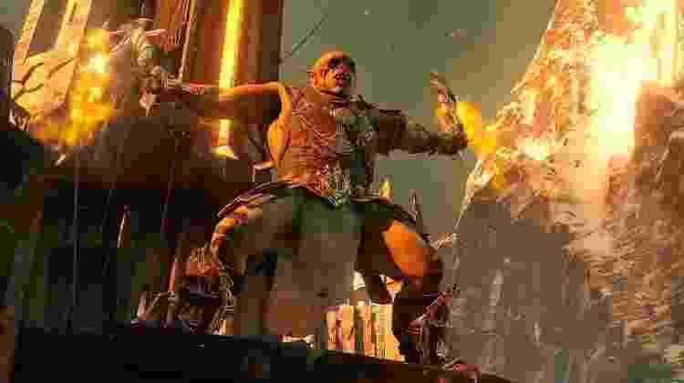 O sistema Nêmesis rende os melhores momentos do game ao criar capitães Orcs com personalidades distintas e características variadas que você deve explorar para alcançar a vitória. - Divulgação