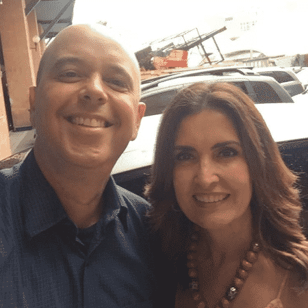 Alex Escobar e Fátima Bernardes na Cidade do Samba - Reprodução/Instagram/fatimabernardes