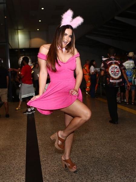 Geisy Arruda, repórter dos bastidores do Carnaval na RedeTV! - Iwi Onodera/UOL