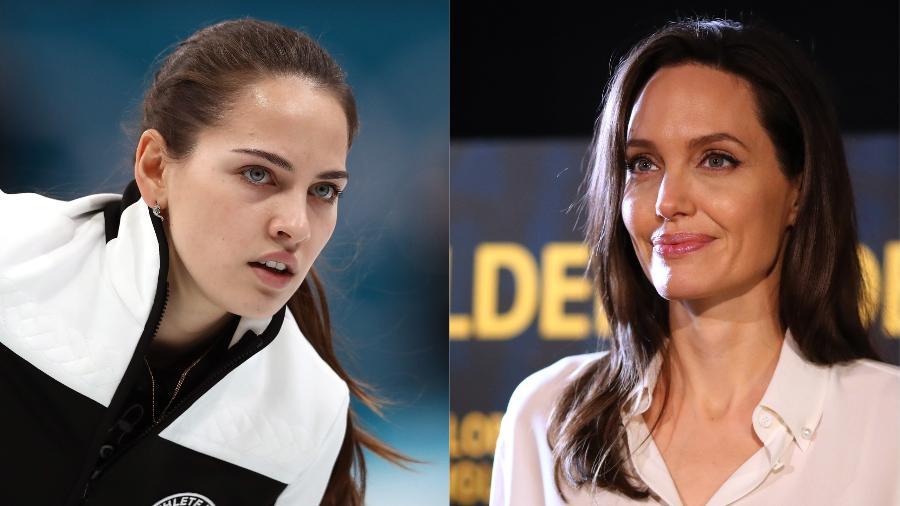 A semelhança entre a atleta e a atriz impressionou espectadores das Olimpíadas de Pyeongchang no mundo inteiro - Getty Images