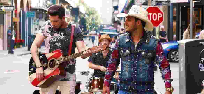 Bruno & Barretto tocam na Bourbon Street, em Nova Orleans - Divulgação