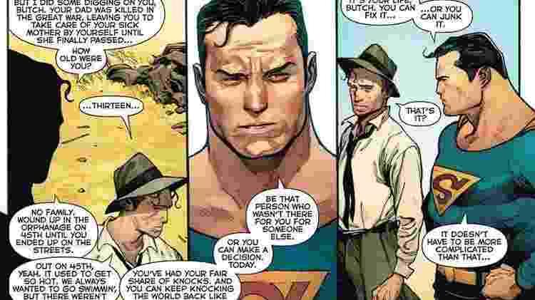 Detalhe do quadrinho da Action Comics 1000 - Reprodução - Reprodução