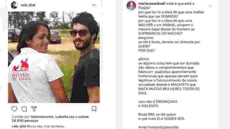Post de Caio Blat é detonado por Maria Casadevall - Reprodução/Instagram - Reprodução/Instagram