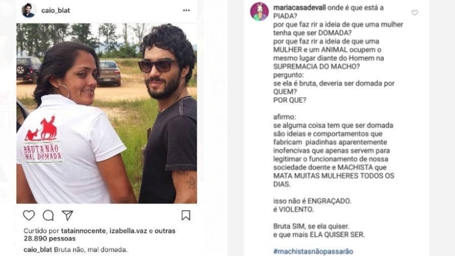 Post de Caio Blat é detonado por Maria Casadevall - Reprodução/Instagram