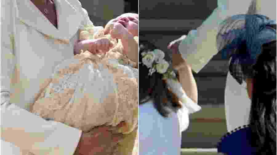 Vestido usado por Kate no batizado de Charlotte não tinha botões na manga - Getty Images