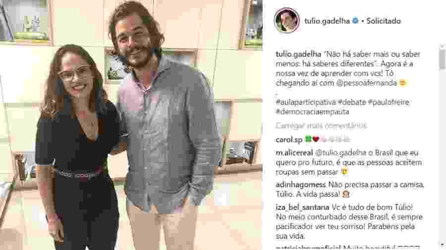Reprodução/Instagram/@tulio.gadelha