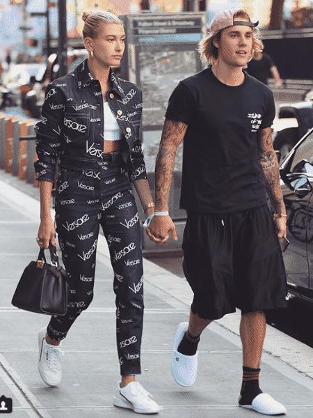 Justin Bieber e Hailey Baldwin passeiam nos EUA - Reprodução/Instagram/thecatwalkitalia