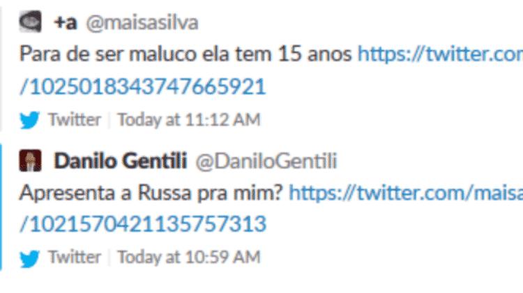 Danilo Gentili pede para conhecer amiga de Maisa e ela rebate - Reprodução/Twitter - Reprodução/Twitter