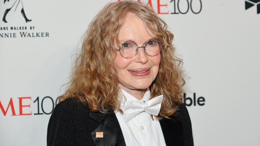 A atriz Mia Farrow em evento no Lincoln Center, em Nova York, em abril de 2018 - Ben Gabbe/Getty Images for Time