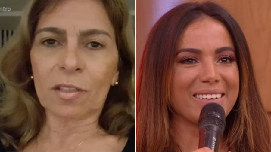 """Mãe da cantora Anitta gava depoimento para a filha no """"Encontro"""" - Reprodução/Globo"""