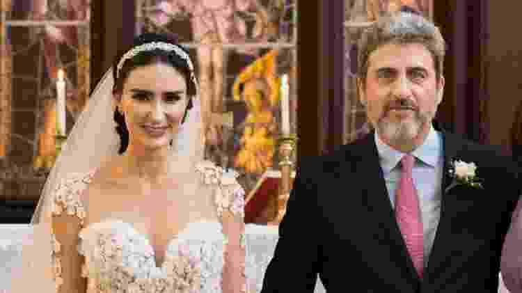 Cristiane e Sergio, no dia do casamento, em abril de 2018 - Arquivo Pessoal