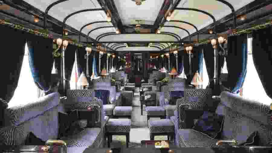 Interior do Venice Simplon-Orient-Express, um dos mais luxuosos trens do mundo - Divulgação/Belmond