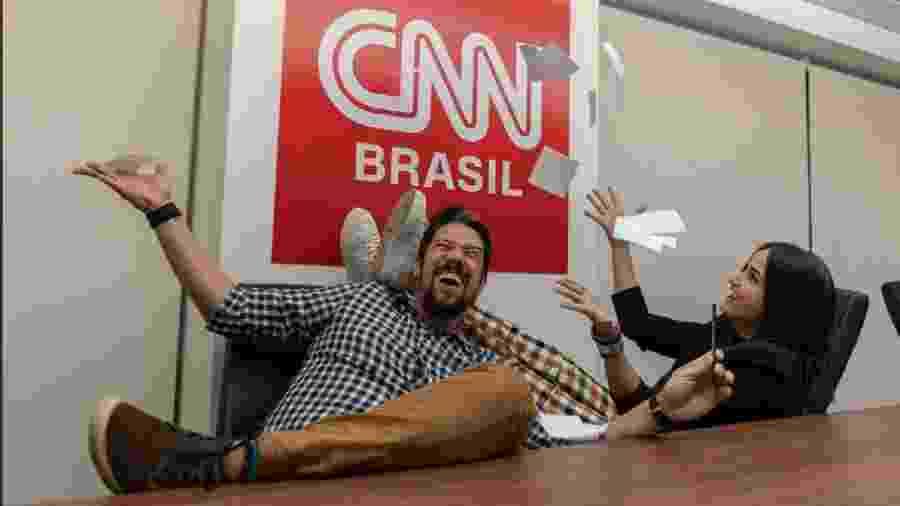 Phelipe Siani e Mari Palma, dois dos novos contratados da CNN Brasil - Divulgação/CNN Brasil