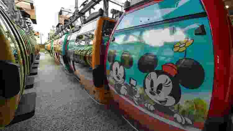 Personagens da Disney decoram o exterior de cabines do Skyliner - Kent Phillips/Walt Disney World