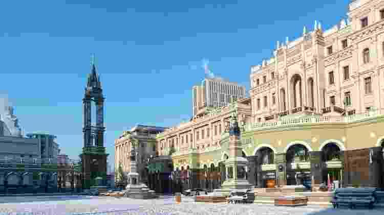 Praça da geladíssima cidade de Harbin, na China - aphotostory/Getty Images