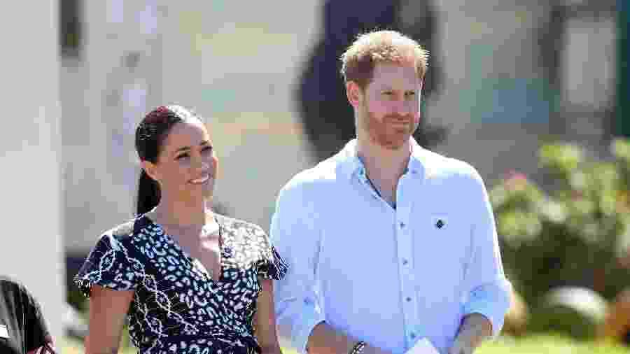Meghan e Harry durante turnê de 10 dias pela África do Sul - Getty Images