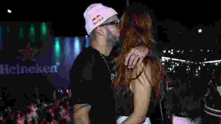Pedro Scooby e Cintia Dicker aos beijos no Rock in Rio 2019 - Reginaldo Teixeira/CS Eventos - Reginaldo Teixeira/CS Eventos