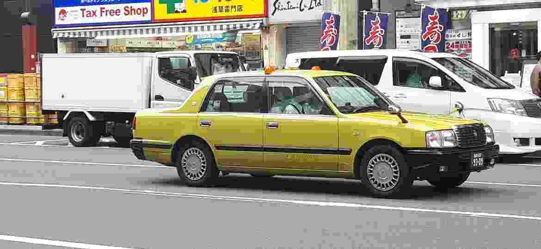 Toyota Crown é modelo mais tradicional de táxi nas ruas japonesas - Vitor Matsubara/UOL