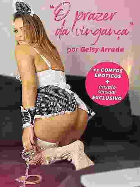 """""""O Prazer da Vingança"""", livro de contos eróticos assinado por Geisy Arruda - Reprodução/ Instagram"""