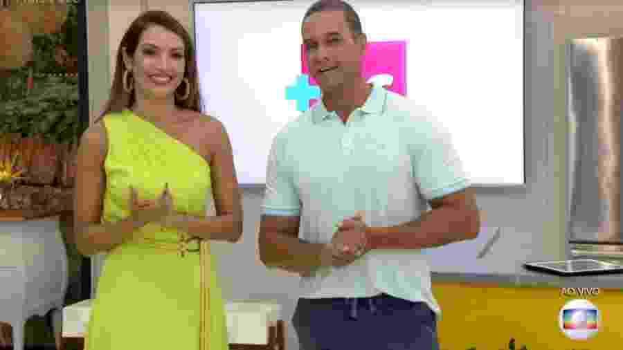 Patricia Poeta e Fabricio Battaglini no Mais Você - Reprodução/Rede Globo