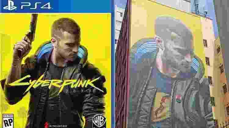 Arte de Cyberpunk 2077 reproduz a capa do game. - Reprodução/START - Reprodução/START