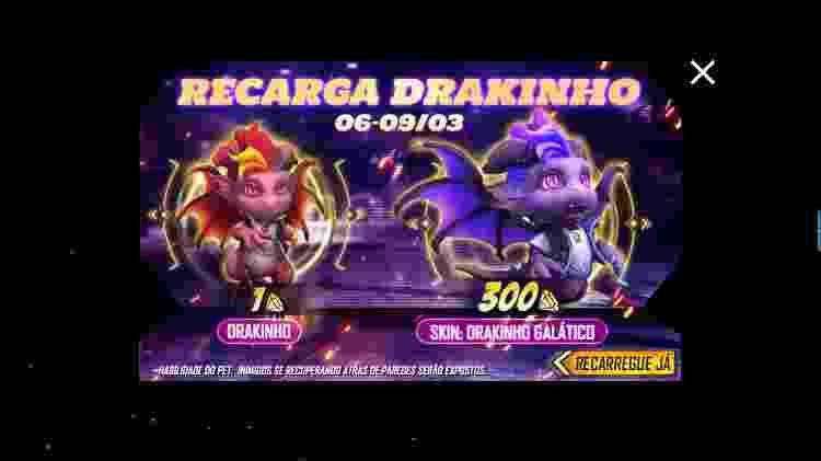 Free Fire Drakinho 1 - Daniel Esdras/GameHall - Daniel Esdras/GameHall