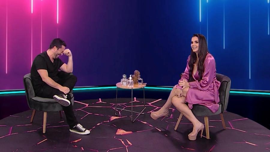 Luiza Ambiel no programa ?Foi Mau?, de Maurício Meirelles - Divulgação / RedeTV!